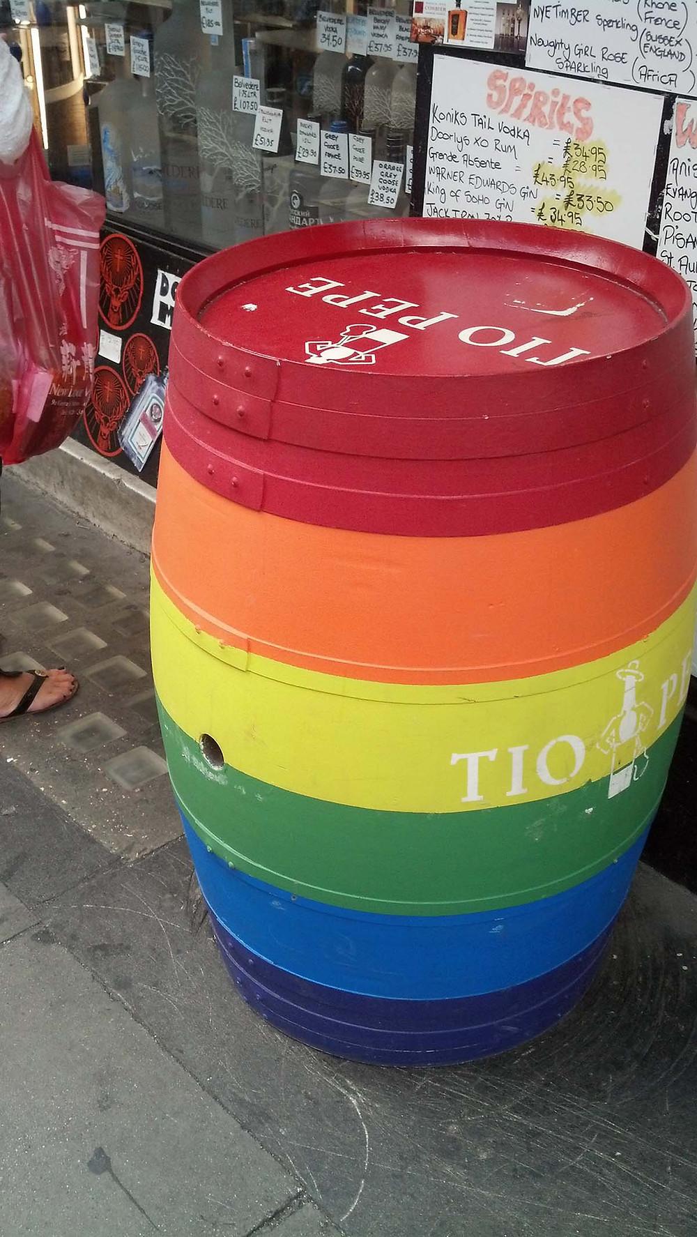Rainbow barrel, London, England