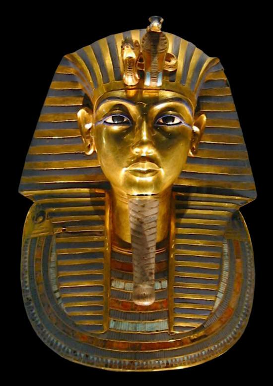 King Tut's burial mask, Egypt's Cairo Museum