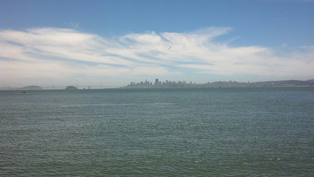 San Francisco skyline from Sausalito, California