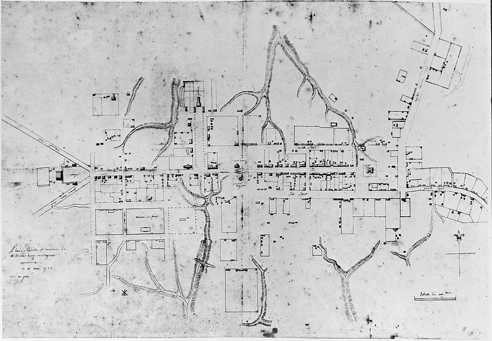1782 Map of Colonial Williamsburg, Virginia