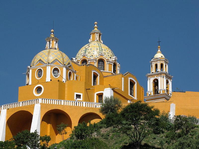 Nuestro Señora de los Remedios in Choluloa, Puebla, Mexico