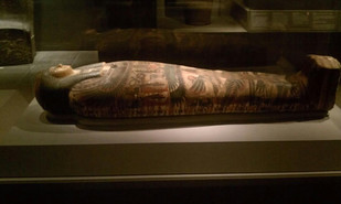 """The cast-iron coffins were """"fashioned after an Egyptian sarcophagus"""