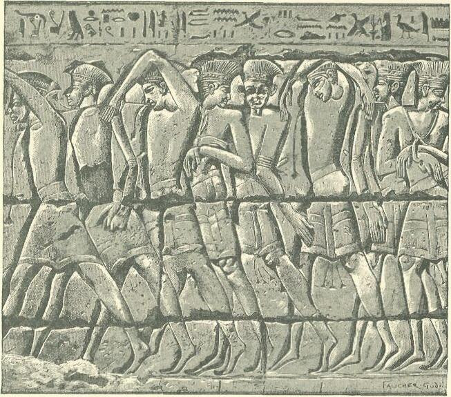 Philistine captives in Egyptian relief