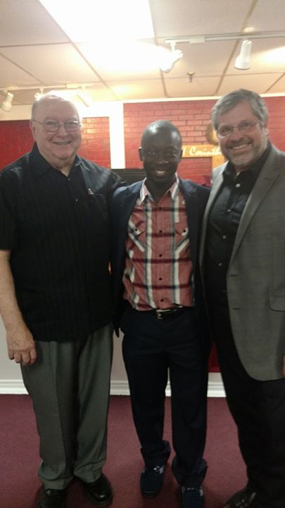 Pastor Don on left, Pastor David Fatorma middle and Pastor Rod Thomas on right