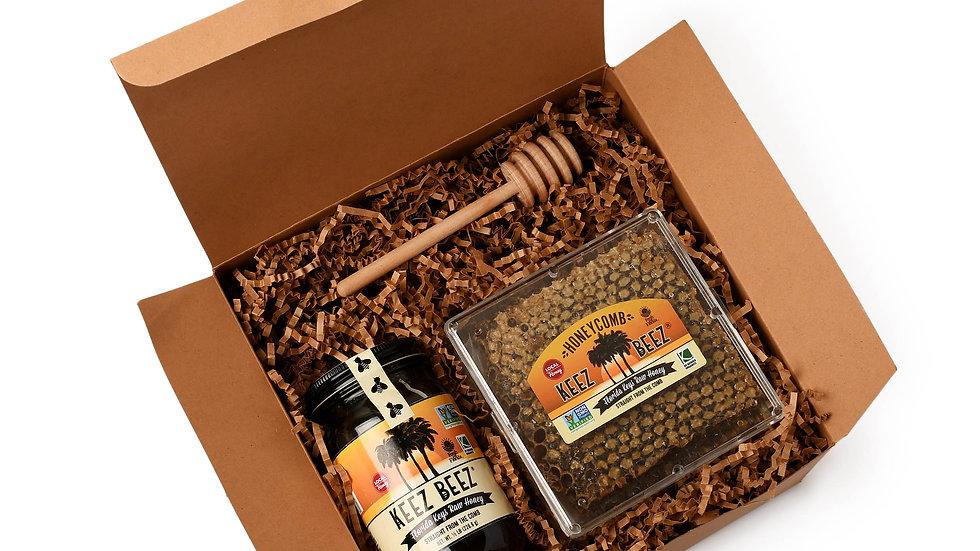 Honey Comb + Honey  Gift Box