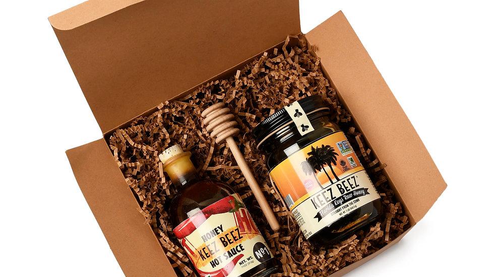 Hot Sauce + Honey Gift Box