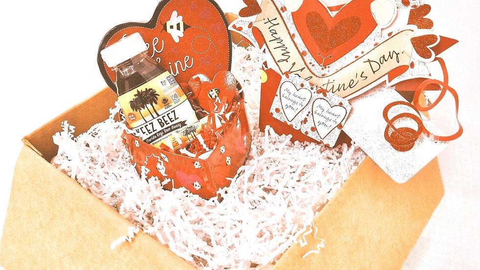 Valentine's Gift Set- Honey 1/2 Lb