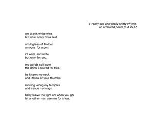 a few sad love poems.
