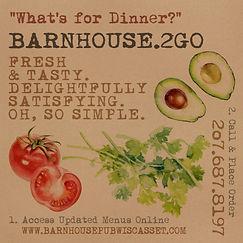 #BARNHOUSEPUB WISCASSET BARNHOUSE GRILL & PUB TAKE OUT SERVICE 2GO TO-GO ANNOUNCEMENT
