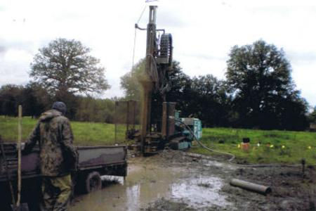 Rotary drilling rig making a mess.jpg