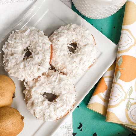 Baked Lemon Coconut Donuts: for when life gives you lemons