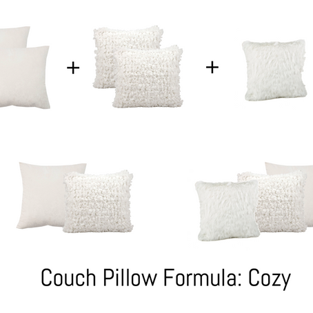 Couch Pillow Formula: how to choose the right pillows that reflect your style