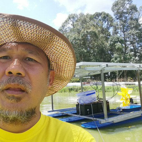 Supply & Install of  Solar Powered Paddle Wheel Water Aerator