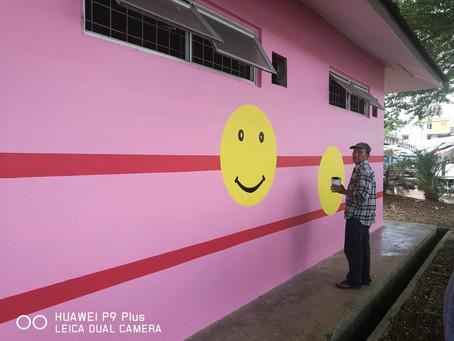 Painting Work in Bau Town.
