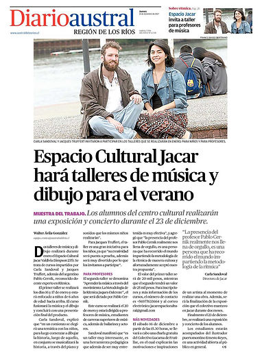 JACAR espacio cultural prensa-Diario austral