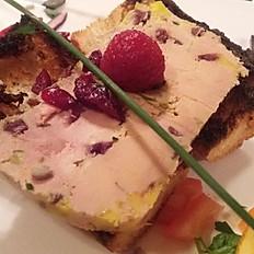 Foie Gras Maison aux Pistaches et cramberries
