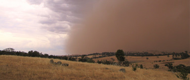 Mandurama NSW soil in the air ahead of a storm front