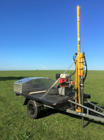 The trailer mounted hydraulic soil corer