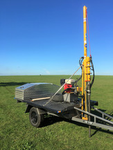 The trailer mounted hydraulic soil corer