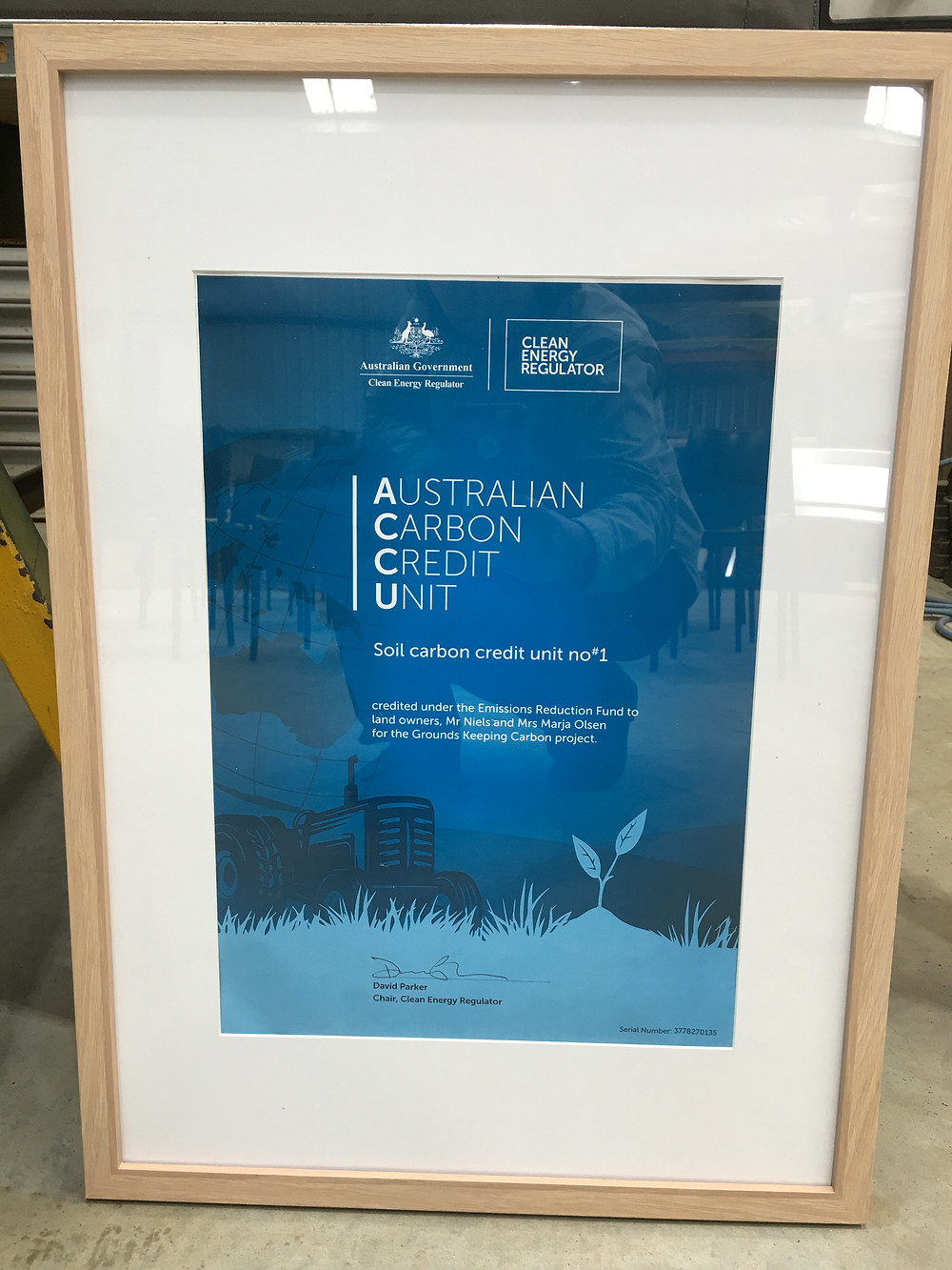 First Carbon Credits in the World that go toward Australia's Emissions Reduction Targets of the Paris Agreement