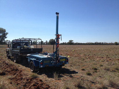 Narromine soil sampling with the trailer