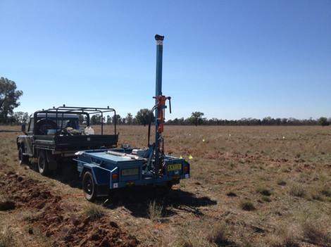 Narromine soil sampling with the trailer