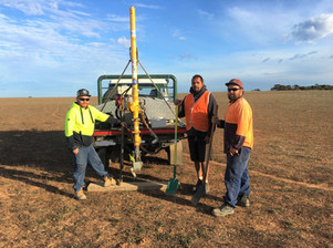 Exceptional crew at Scotdesco Aboriginal Community assisting in the field on carbon farming project sampling