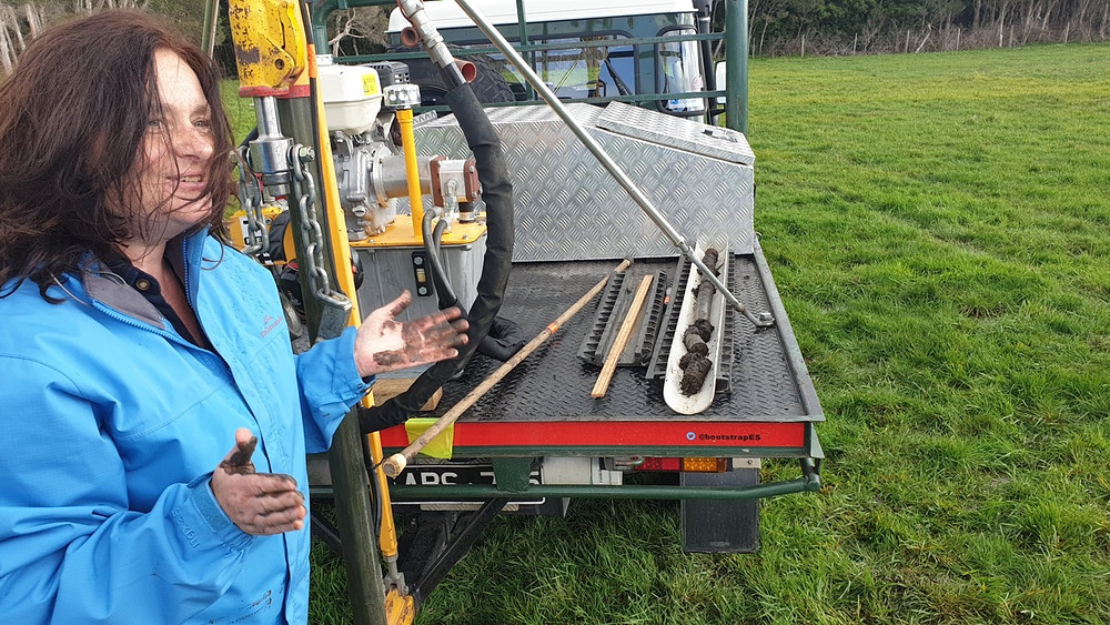 Soil sampling demonstration at the Dromana Climate Smart Farm