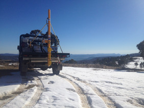 The Soil corer at the highest town in Au