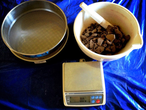 In the soil laboratory preparing 100's of soil samples for labile carbon testing