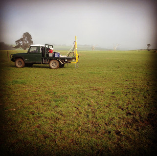 Soil carbon research project and in the field with Monash University soil scientists