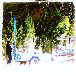 Soil coring demonstration Grenfell NSW