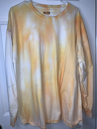 Custom Yellow Dyed Long Sleeve Shirt