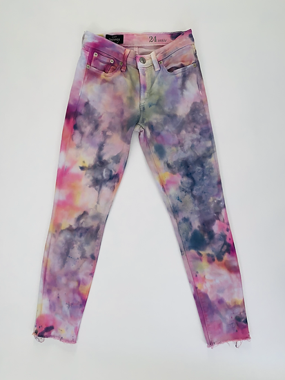 Custom Ice Dyed Jeans