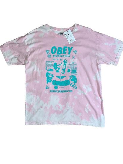 Custom Obey Pink Unisex Shirt