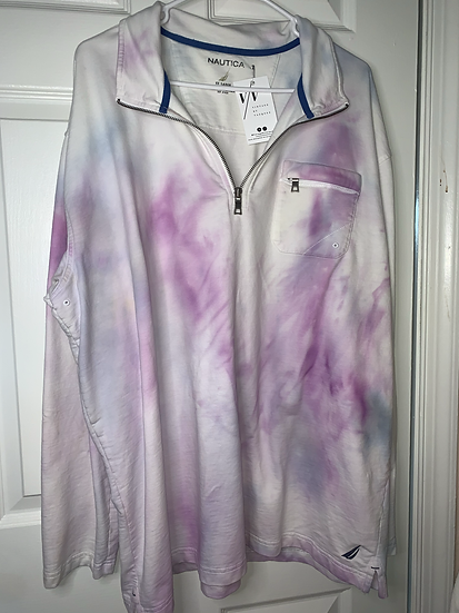 Nautica Custom Dyed Oversized Zip Up