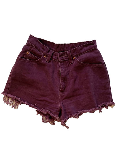 Vintage Purple Levi Shorts