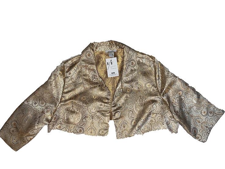 Vintage Gold Victorian Crop Blazer