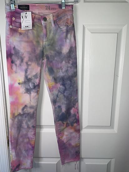 Custom Ice Dyed Jeans