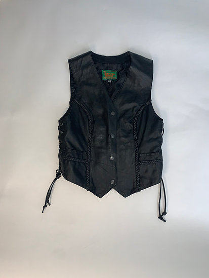 The Leather Dudes Black Vest