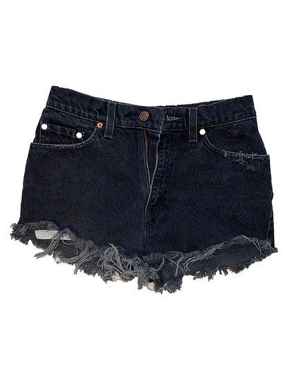 Vintage Black Denim Shorts