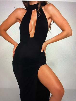 Cut Out Halter in Black