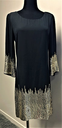 Black with Sequin Sleeves