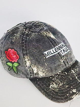 Millennial Talk Roses Dad Hat
