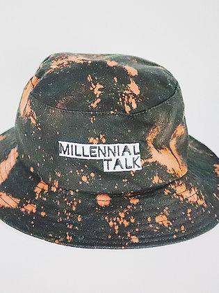 Millennial Talk Bleached Bucket Hat