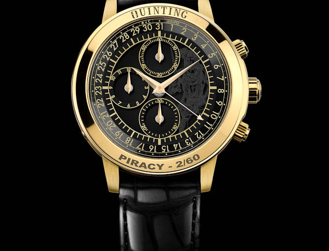 Quinting Mysterious Chronograph The Sea Devil Gold