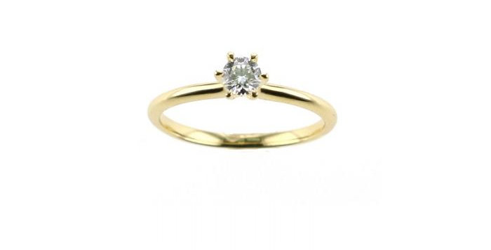 Ring DIAMOND SOLITAIRE Gelbgold mit Brillant 0,25ct