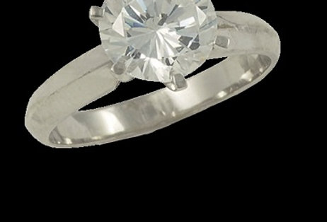 Ring, handgefertigt, 750/ Weissgold, 1 x 2,0 ct. R/IF GIA Zertifikat