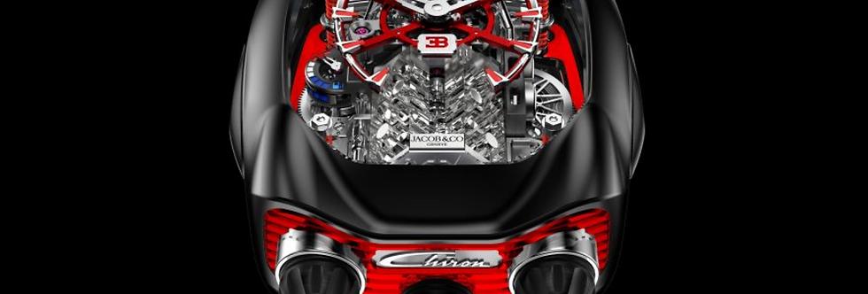Jacob & Co. Bugatti Chiron 16-Zylinder Tourbillon Red & Black