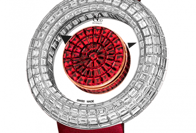 Jacob & Co. BRILLIANT MYSTERY BAGUETTE RUBIES (44MM) 18 Pieces Limited